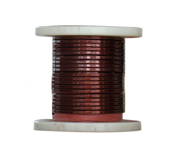 SWG 1 mm Rectangular Copper Wire , Enameled Copper Magnet Wire For Electrical Motors आपूर्तिकर्ता
